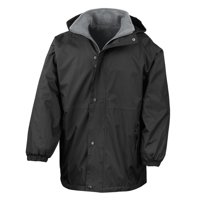 Black Childs Reversible Waterproof Jacket, Fleece inner – t his item is supplied with NO LOGO